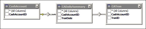 Acumatica Cash Account Details Report Data Access Classes (DAC)