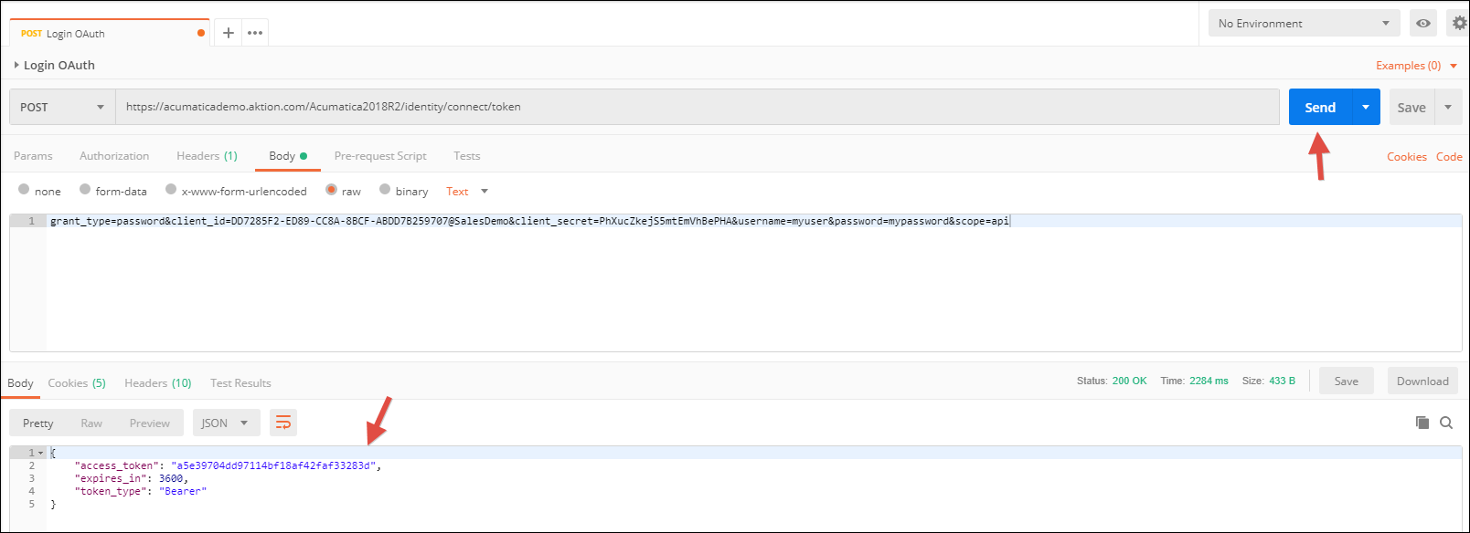 OAuth Authentication in Acumatica