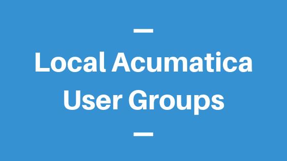 Local Acumatica User Groups