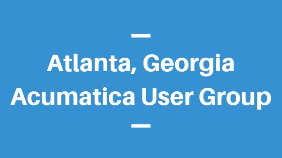 Acumatica User Group in Atlanta, Georgia