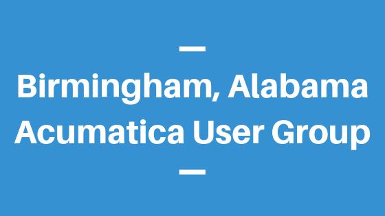 Acumatica User Group in Birmingham, Alabama