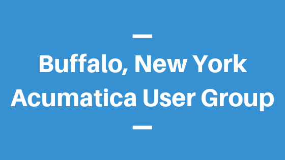Acumatica User Group in Buffalo, New York