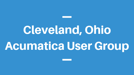 Acumatica User Group in Cleveland, Ohio