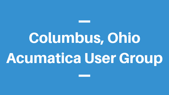 Acumatica User Group in Columbus, Ohio