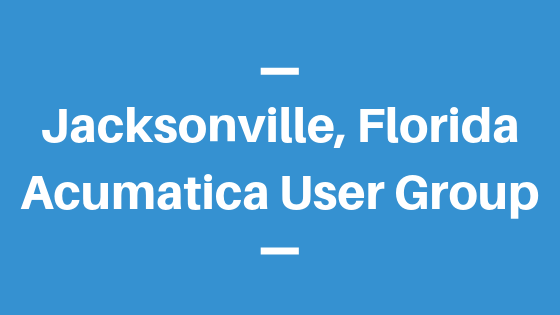 Acumatica User Group in Jacksonville, Florida