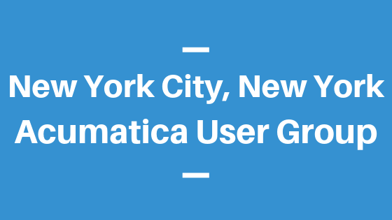 Acumatica User Group in New York City, New York