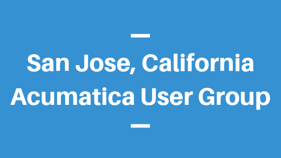 Acumatica User Group in San Jose, California