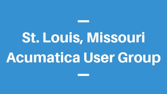 Acumatica User Group in St. Louis, Missouri