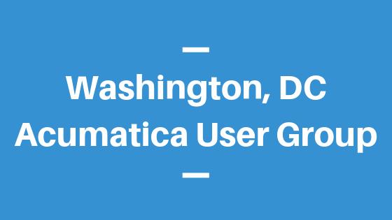 Acumatica User Group in Washington, DC