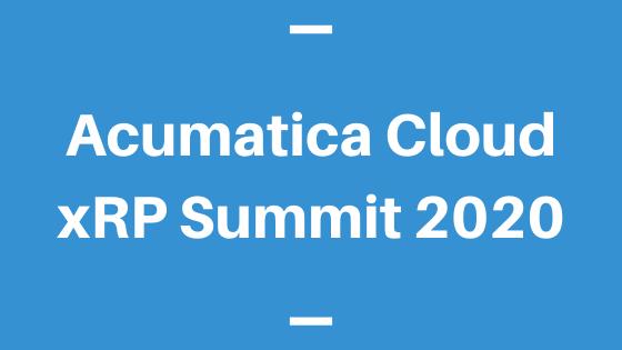 Acumatica Cloud xRP Summit 2020