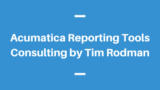 Acumatica Reporting Tools Consulting